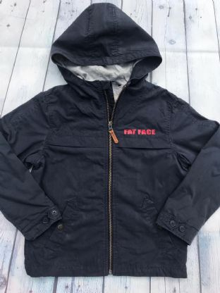 FatFace navy blue coat age 6-7